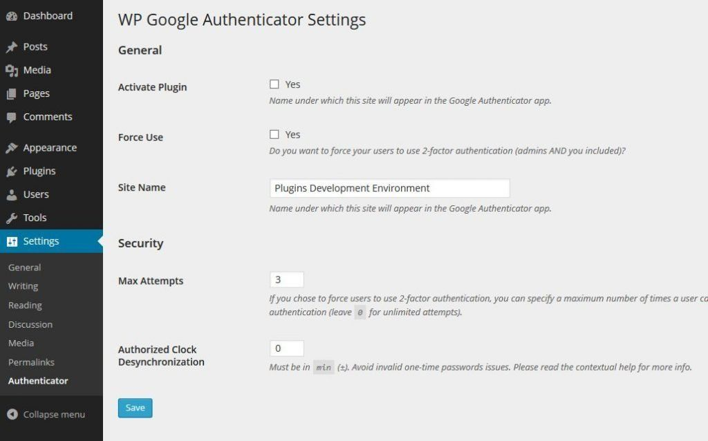 WP-Google-Authenticator