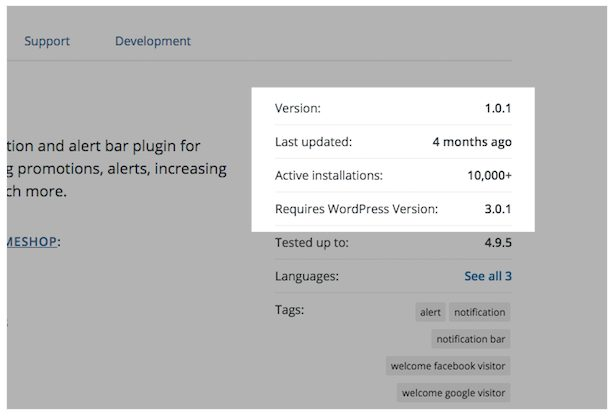 The plugin is incompatible with the latest WP version