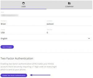 Set up two-factor authentication for your users
