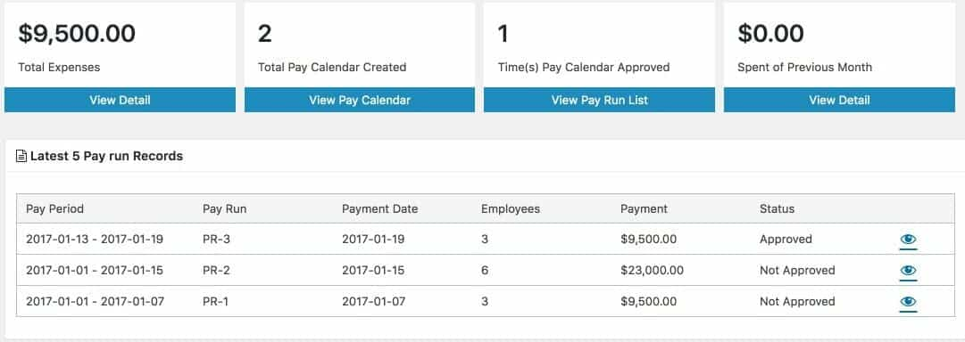 An overview of the Payroll module
