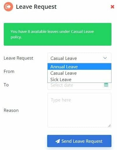 Leave requests are petitioned through employee dashboards