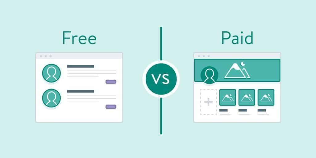 WordPress free or paid