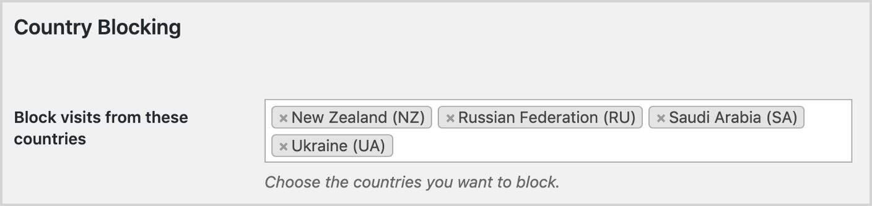 Country Blocking in WordPress
