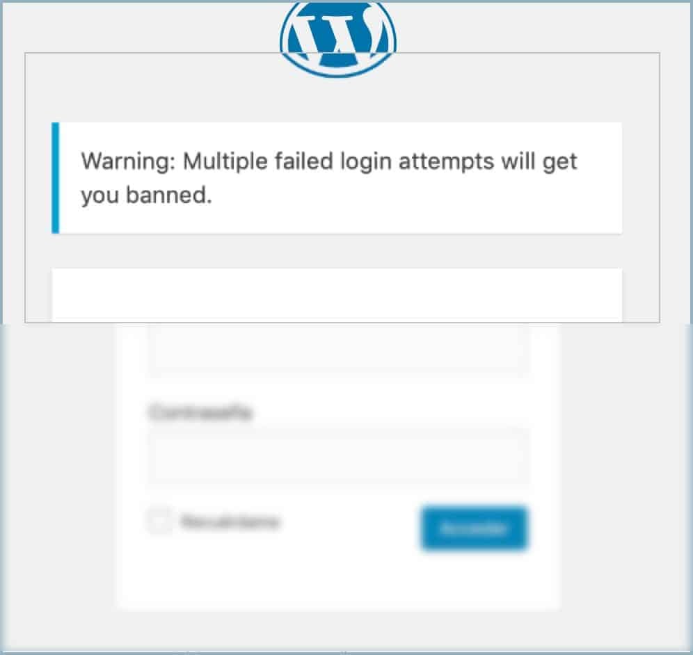 Warning on multiple mailed login attempts